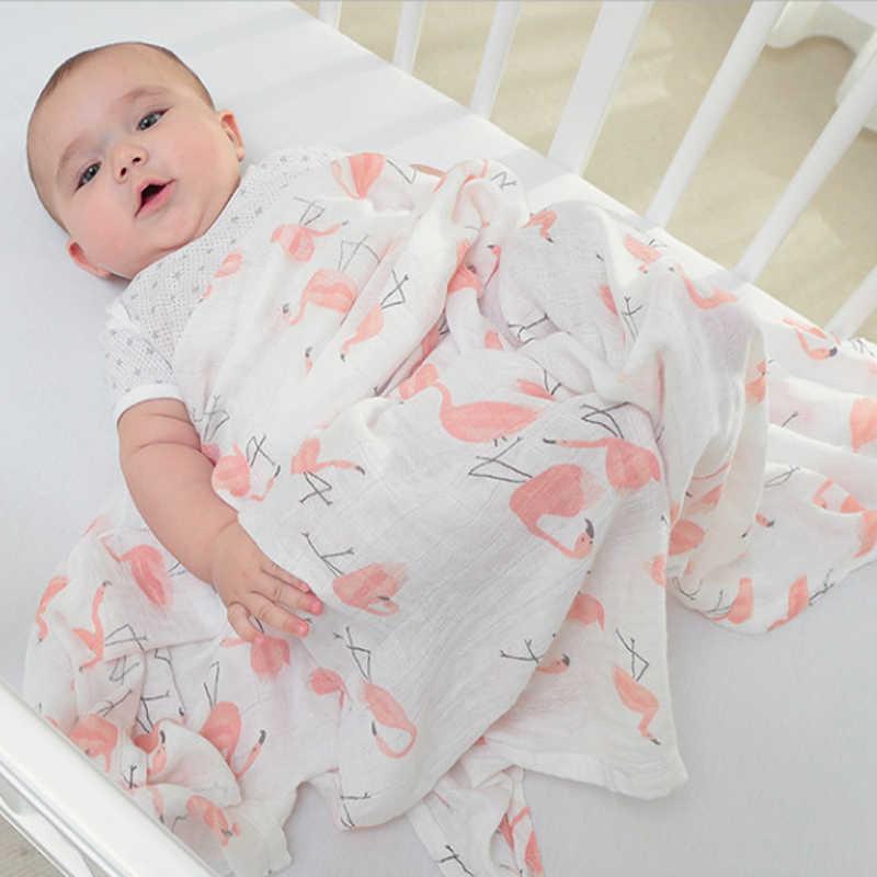 1Pc Musselin 100% Baumwolle Baby Swaddles Weiche Neugeborenen Decken Bad Gaze Infant Wrap Schlafsack Kinderwagen Abdeckung Spielen Matte Baby deken