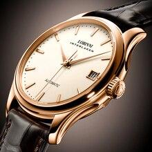 Switzerland Luxury Brand LOBINNI Men Watches Seagull ST2130