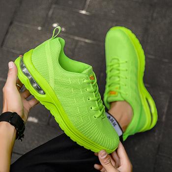 2021 białe oddychające męskie buty sportowe z amortyzacją żółte buty sportowe męskie siłownia wiosenne buty do chodzenia letnie tenisowe buty do badmintona tanie i dobre opinie QZHSMY Siateczka (przepuszczająca powietrze) podstawowe CN (pochodzenie) RUBBER Sznurowane Dobrze pasuje do rozmiaru wybierz swój normalny rozmiar