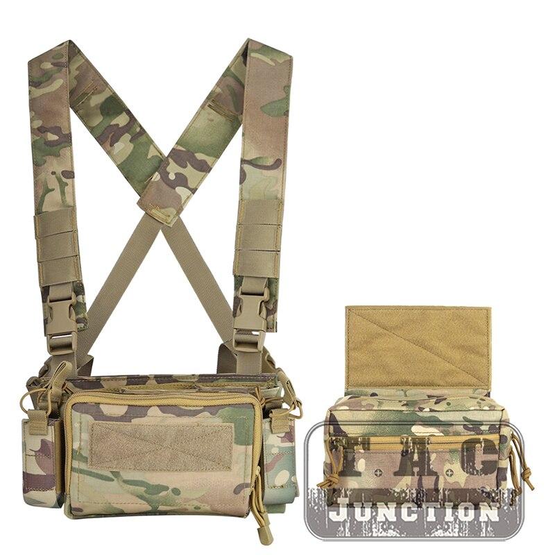 Pochette de chargeur légère de transporteur d'armure de Multicam de plate-forme de poitrine de la Version Simple tactique MK3 pour la plate-forme de coffre utilitaire d'airsoft de chasse