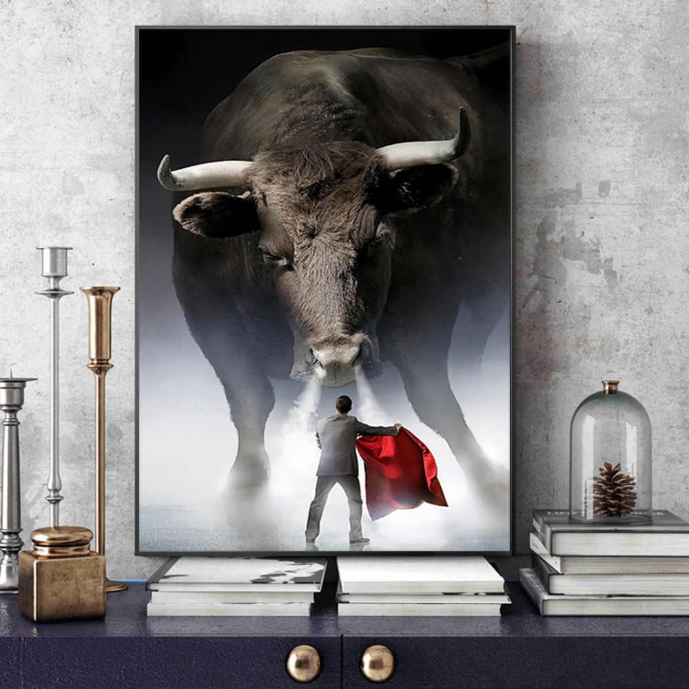 Pôster de arte de decoração, quadros e impressões de animais sem moldura para arte de parede sala de estar