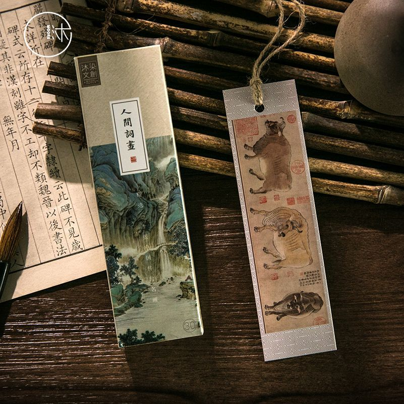 30 Pcs/1 Lot Human Words Paper Bookmarks Bookmarks For Books/Share/book Markers/tab For Books/stationery