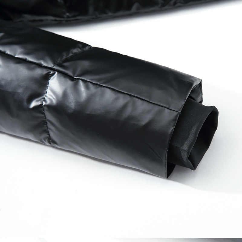 고품질 남성 겨울 흰색 오리 파카 두꺼운 따뜻한 후드 아웃웨어 블랙 광택 남성 다운 코트 남성 다운 재킷 4XL