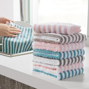 Stripe Dish ręcznik do wycierania Coral Fleece wysoce chłonne ściereczki do wycierania kuchnia do garnków i naczyń kubki do czyszczenia szmata podkładka do czyszczenia tanie i dobre opinie CN (pochodzenie) Ekologiczne Na stanie NAKŁADKA DO MYCIA PODŁOGI KİTCHEN COTTON 21211W dish clean towel 25*25cm 9 8*9 8inch 30*40cm 11 8*15 7inch
