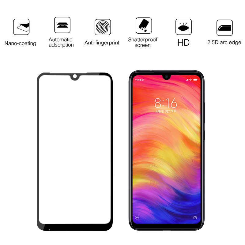 Image 4 - 3 in 1 Camera Glass For Xiaomi Redmi Note 7 8 6 Tempered Glass Screen Protector For Redmi Note 8 7 6 5 Pro Protective Glass Film-in Phone Screen Protectors from Cellphones & Telecommunications