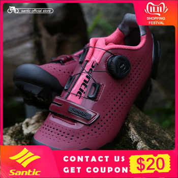 Santic Women Cycling MTB Shoes Rotating Lock Shoes Mountain Bike Biking Sneakers Cycling Women Shoes Two Colors LS18002 - DISCOUNT ITEM  18% OFF Sports & Entertainment