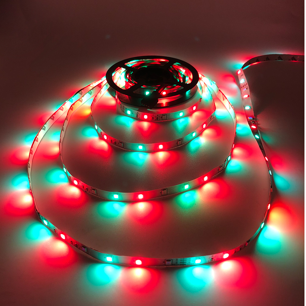 H10015692ddeb4b0f815cc25b1a020e1er - 5m 2835 3528 LED Strip Desk Lamp RGB White Red Green Blue Yellow 300Leds IR Remote Controller Holiday Light Night Garden Light