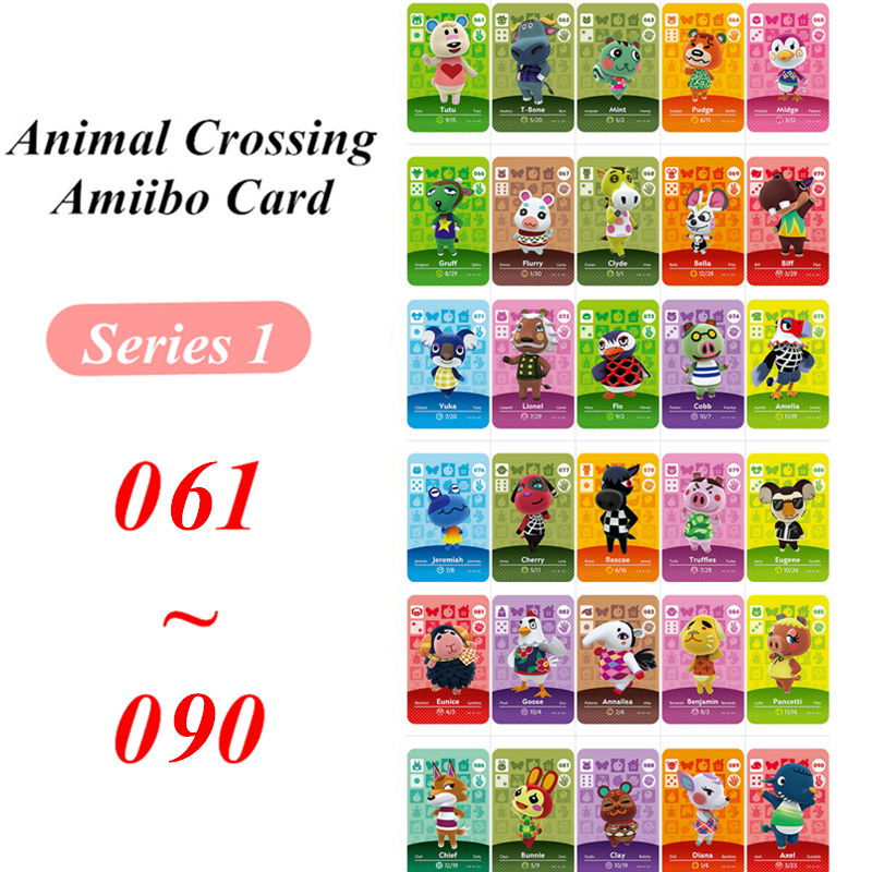 61 To 90 Animal Crossing Card Amiibo NFC Card For Nintendo Switch NS Games Series 1
