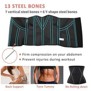 Image 5 - ネオプレン汗ウエストトレーナーコルセットトリマーベルト女性のための減量ウエストニッパーシェイパースリムボディ胃シェイパー