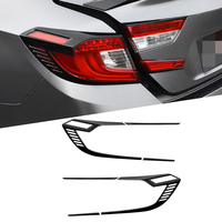 ABS Chrome Car Rear Lights Cover Taillight Trim Sticker Car Styling Accessories For Honda Accord 10th 2018 2019 Gloss Black