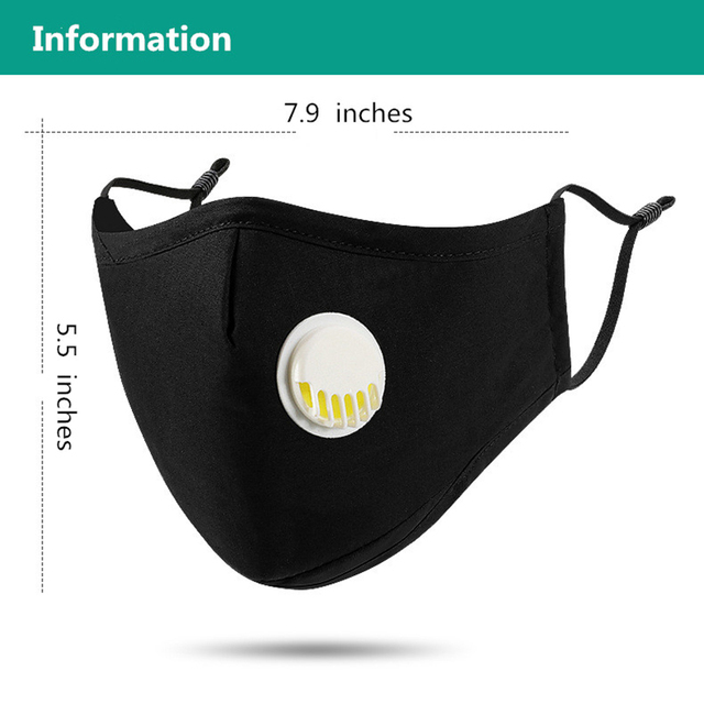 Reusable Cotton PM2.5 Mask Anti Dust Mask Activated Carbon Filter Windproof Mouth-muffle Proof Flu Face Masks Care Dropshipping 2