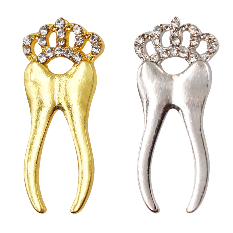 Very Cute Tooth Shape Brooches Cartoon Tooth Healthy Dentist Brooch Pins as Gift for Dental Clinic