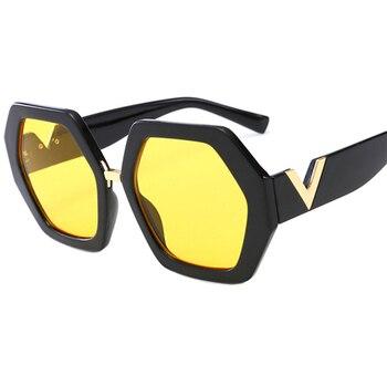 2021 Luxury Square Sunglasses Ladies Fashion Glasses Classic Brand Designer Retro Sun Glasses Women Sexy Eyewear Unisex Shades - Yellow