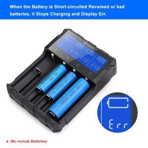 Image 5 - Caricabatterie intelligente 18650 ricarica per batterie ricaricabili agli ioni di litio 26650 18650 14500 16340 AA AAA 1.5V 3.7V