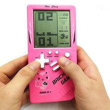 Console de jeu électronique Portable Tetris, avec écran LCD, jeu de poche classique, cadeau d'enfance