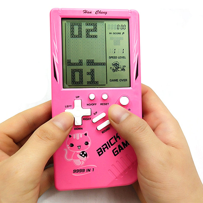 Portable Game Console Tetris Handheld Game Players LCD Screen Electronic Game Toys Pocket Game Console Classic Childhood Gift