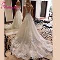 Vestido de noiva 2020 vestido de noiva brilhante glitter v-neck vestidos de noiva longo trem robe de mariee
