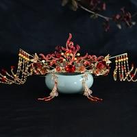 Antiquity Hair Clips Kanzashi Chinese Style Handwork Tassel Hair Crown Step shake Hairpin Hanfu Headdress Accessories Cosplay