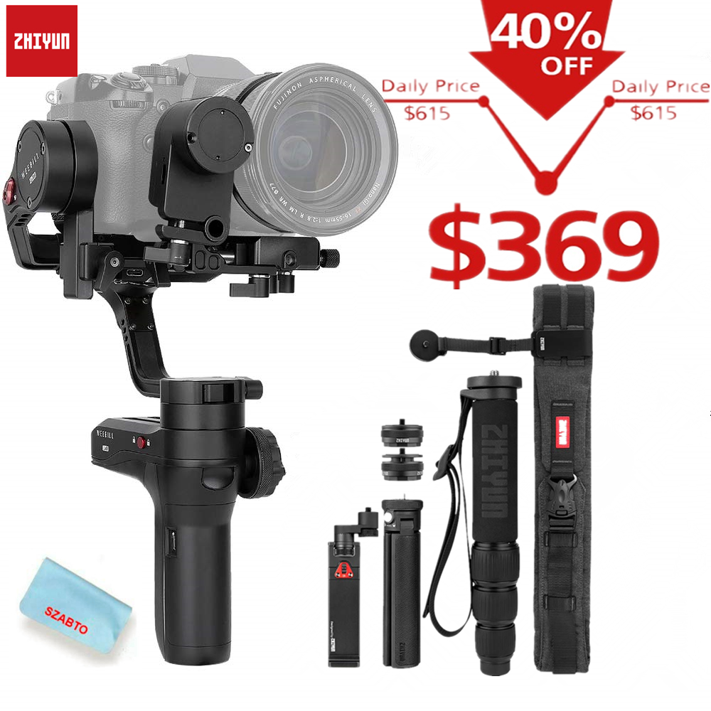 Zhiyun Weebill S, LAB 3-Axis Gimbal for Mirrorless and DSLR Cameras Like Sony A7M3, 300% Improved Motor Than 14-Hour Runtime