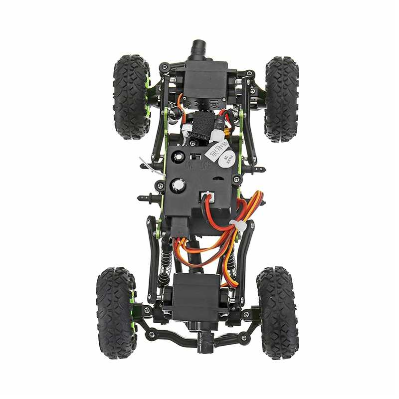 WLtoys 24438B 4WD podwójny układu kierowniczego wspinaczka metalowa rama RC samochodu