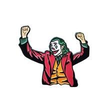 Joker эмалированная брошь-кнопка