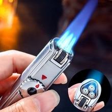 Ветрозащитная мощная трофонарь жигалка Jobon, зажигалка для барбекю, струйная газовая зажигалка для сигар, турбо металлическая кухонная пистолет распылитель для сигар, уличные гаджеты для мужчинСпички    АлиЭкспресс