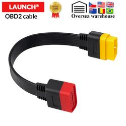 10pcs/lot LAUNCH OBDII 16Pin Extension Cable Vehicle Automobiles OBD2 male to Female Extend Universal OBD Car Diagnostic Cable
