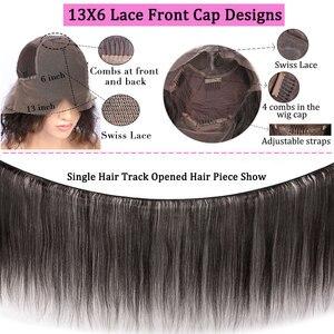 Image 5 - Парик из натуральных вьющихся волос на сетке спереди, 13 х6, короткий парик Боб, длинный вьющийся парик для женщин, бразильский парик с неповрежденными волосами спереди, предварительно выщипанные Детские волосы