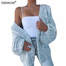 Ysdnchi осенний Новый Модный женский кардиган размера плюс 5xl