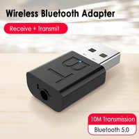 Receptor inalámbrico con Bluetooth, Adaptador 2 en 1 inteligente para CP/TV/altavoz/auriculares/ratón/teclado, 1 unidad