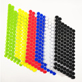 Клейкая самоклеящаяся лента Velcros 10/15/20 мм, крючки и петли, стикер в горошек, нейлоновый домашний клей