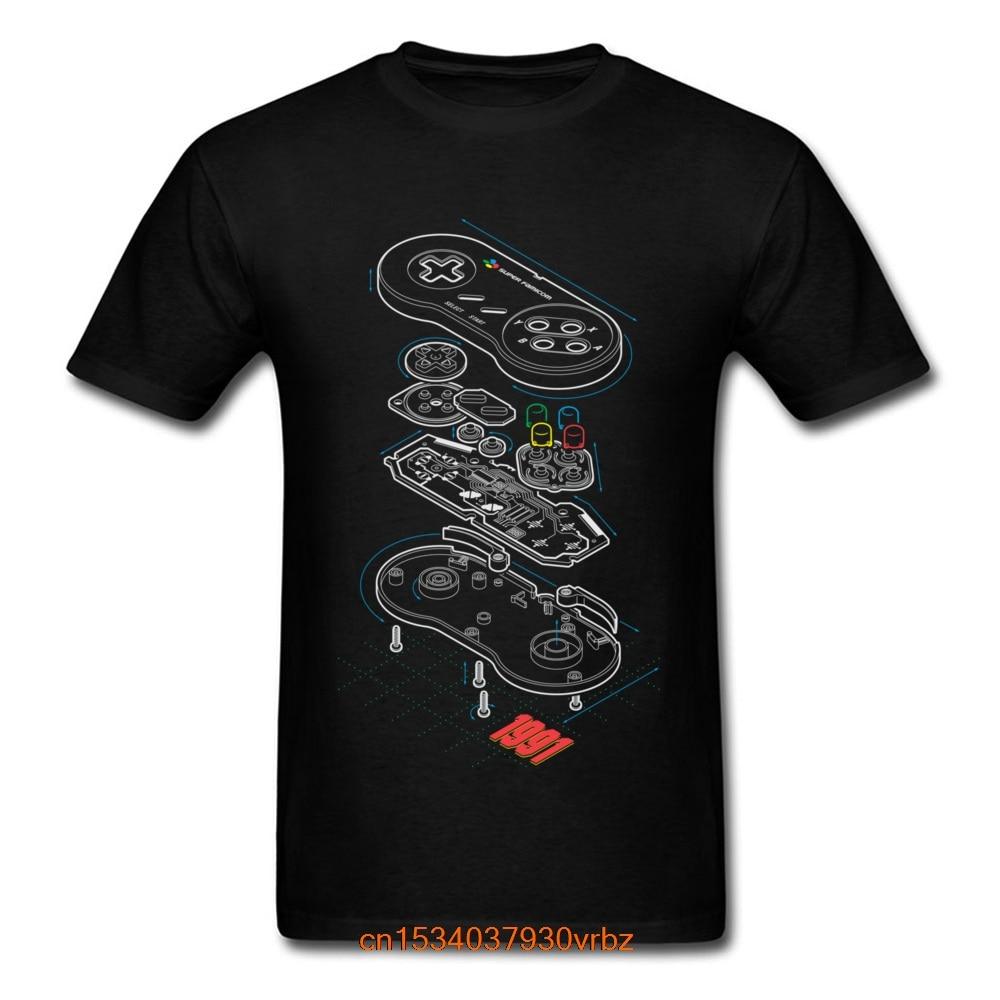Best Custom T-shirt Gamer T Shirt Men Controller Anatomy Tops Tees Hip Hop Streetwear Students Arcade Tshirt Black Clothes Print