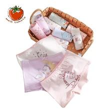 3pcs/lot New Kids Underwear Cartoon Design Cotton Pants Lovely Unicorn Printed Girls High Quality Shorts panties