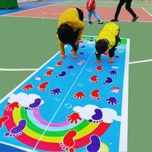 Gioco di mani e piedi per bambini tappeto da salto tappeto per bambini salto Lattice Pad scuola materna gioco di squadra giocattolo da allenamento all'aperto al coperto