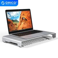 Orico tablet portátil monitor suporte para apple imac lenovo asus dell base de alumínio portátil