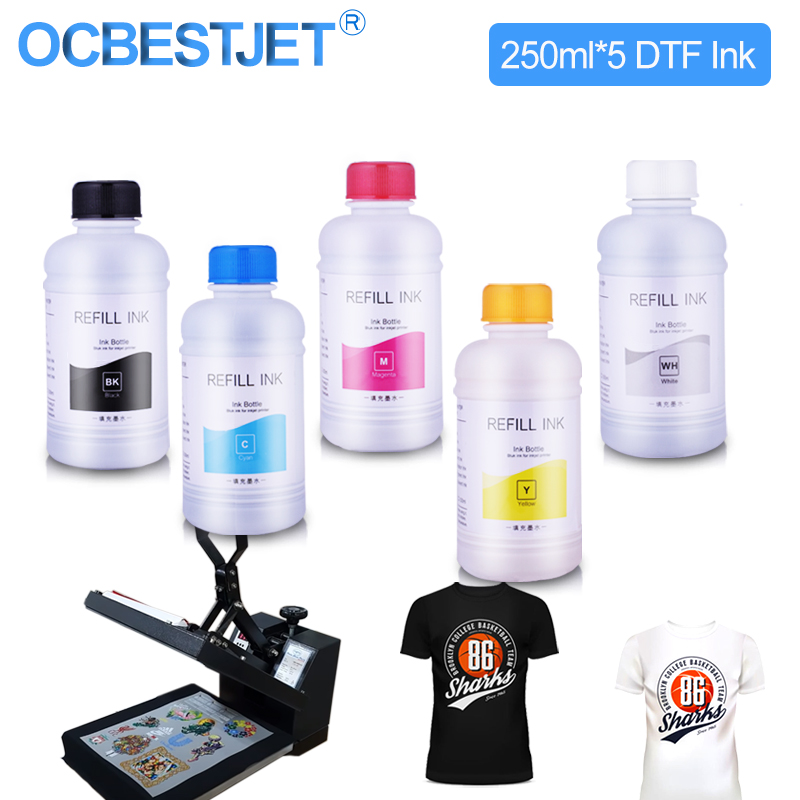 250 мл * 5 DTF чернила для нанесения пленки для принтера DTF для прямой передачи пленки для печати DTF ПЭТ пленочная печать и передача для Epson