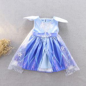 Image 5 - New Movie Frozen 2  Anna Elsa Party Princess  girls party dress  little girls dresses  christmas dress for baby girls