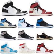 2020 1 1S Мужская баскетбольная обувь Top 3 Blue Chill OG дымчато-серого цвета мокко Королевский носок обсидиан UNC спортивные кроссовки обувь