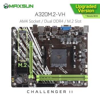 Original MAXSUN Challenger II A320M.2 VH AMD Motherboard AM4 mATX Dual Kanal DDR4 1000M LAN SATA 3,0 USB 3,1 VGA HDMI NVME SSD