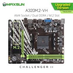Originele Maxsun Challenger Ii A320M.2 Vh Amd Moederbord AM4 Matx Dual Channel DDR4 1000M Lan SATA3.0 USB3.1 Vga Hdmi nvme Ssd