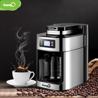 saengQ 1200ml Electric Coffee Maker Machine Household Fully Automatic Coffee Maker Espresso Coffee Home Kitchen Appliance 220V