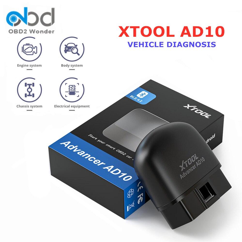 Новый XTOOL AD10 OBD2 автомобильный диагностический инструмент AD 10 EOBD2 сканер ELM327 Bluetooth считыватель кодов для Android/Windows HUD функция
