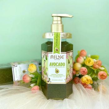 AILKE Smoothing Elf Shower Gel Perfume Body Wash Hydrating Lightening Whitening Exfoliator Avocado Bath Gel 500ML 1