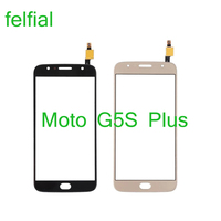Para Motorola Moto G5S más XT1802 XT1803 XT1805 Touch Sensor de Panel de pantalla digitalizador de lentes de vidrio de LCD frontal exterior reemplazo de vidrio