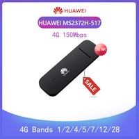 Unlocked Huawei MS2372 MS2372H 517 4G 150Mbps LTE Cat4 Industrial IoT Dongle Supported OS:Linux 4G Bands 1/2/4/5/7/12/28 +antenn
