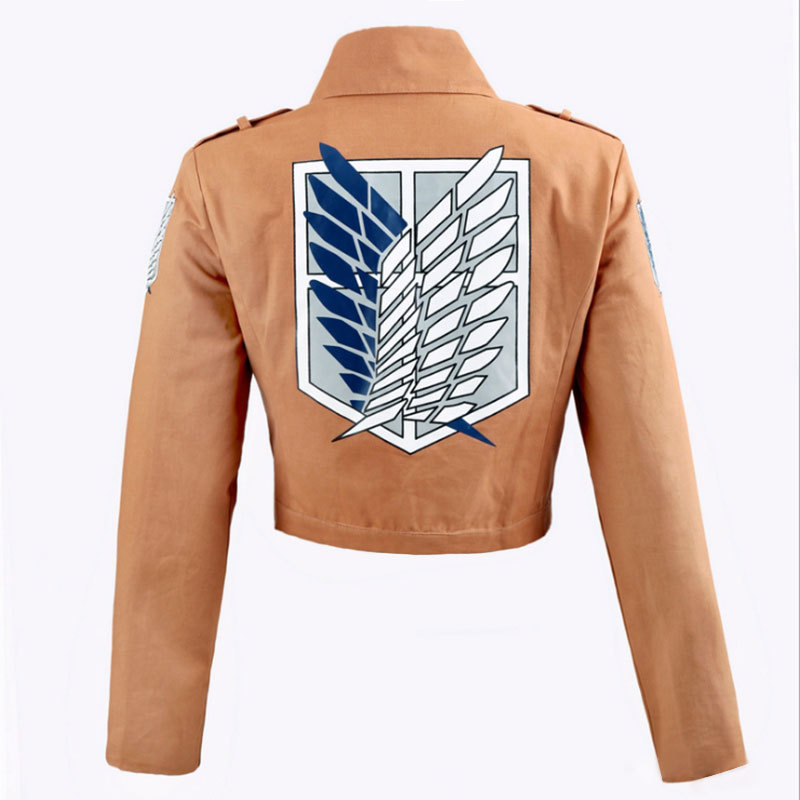Attack On Titan Jacket Shingeki No Kyojin Legion Cosplay Costumes Embroidery Short Jacket Coat
