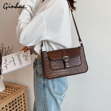 цена на Vintage Women Alligator Messenger Bag Fashion PU Leather Handbag Stone Pattern Shoulder Bag Versatil Crossbody Bags For Women