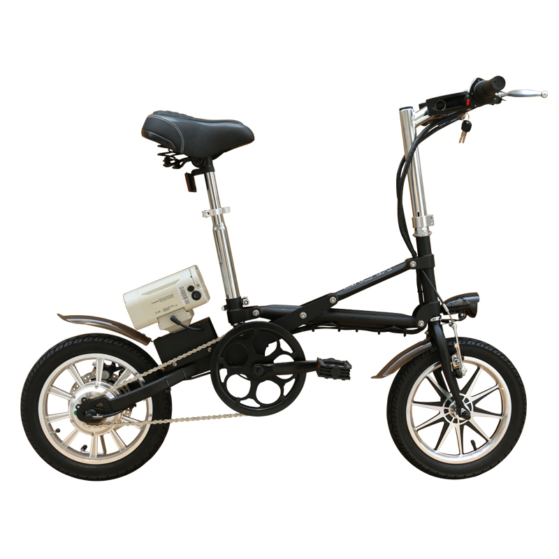 14 inch fast folding ebike 250w electric bike with lithium battery 2