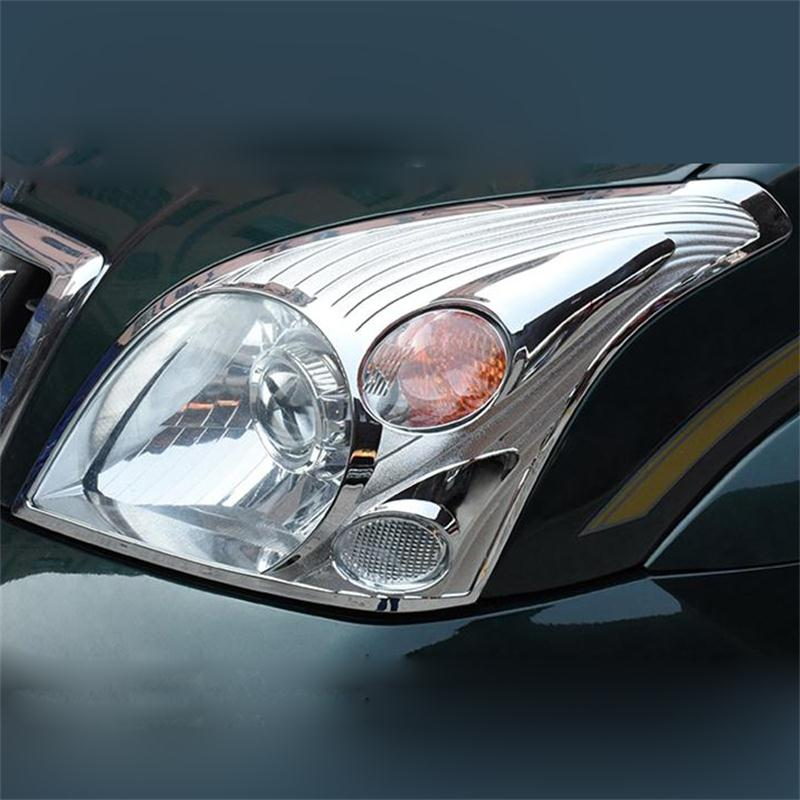 Chrome Headlight Cover For <font><b>Toyota</b></font> <font><b>Land</b></font> <font><b>Cruiser</b></font> <font><b>120</b></font> <font><b>Prado</b></font> J120 2003 2004 2005 <font><b>2006</b></font> 2007 2008 2009 Car-styling Tuning Accessory image