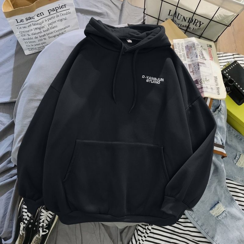 2020 New Women Sweatshirt Oversized Hoodie Hip Pop Harajuku Letter Print Hoodies Autumn Warm Pocket Tracksuit